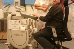 Předávání nového ultrazvukového diagnostického přístroje