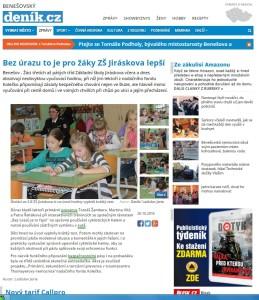 Zpráva o programu v benešovské základní škole uveřejněná v regionálním tisku